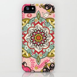 Mandala color pattern iPhone Case