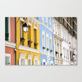 Colorful rue Crémieux, Paris Canvas Print