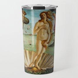 The Birth of Venus by Sandro Botticelli (1485) Travel Mug