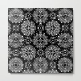 Black and white abstract pattern .14 Metal Print