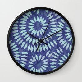 Blue Batik 04 Wall Clock