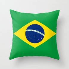 Brazilian National flag Authentic version (color & scale) Throw Pillow