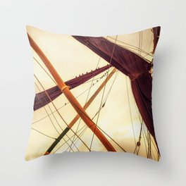 Masts of Yacht Throw Pillow