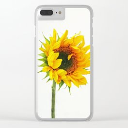 Yellow Provincetown Sunflower Clear iPhone Case