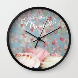Eat the Cupcakes! Wall Clock