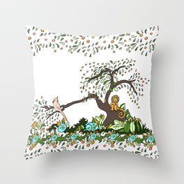 Jungle Monkey Throw Pillow