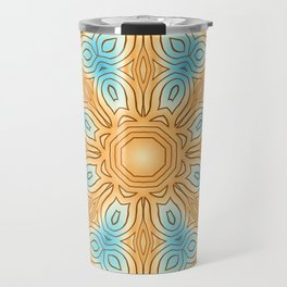 Sea Beach Summer Kaleidoscope Abstract Pattern Travel Mug