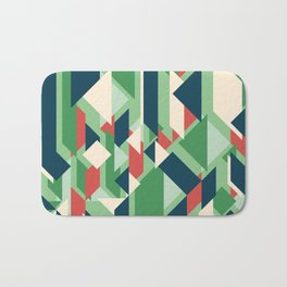 Abstract geometric background. Modern overlapping rectangles and triangles. Bath Mat