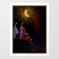 Pixel Art series 4 : Demon Art Print