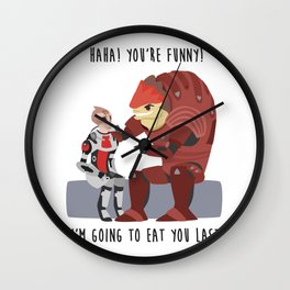 Mass Effect - Wrex and Mordin Wall Clock
