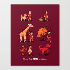 Please Keep Pets on a Leash Canvas Print