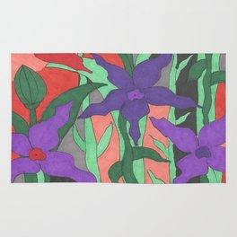 Twilight Sun Garden Floral Art Rug