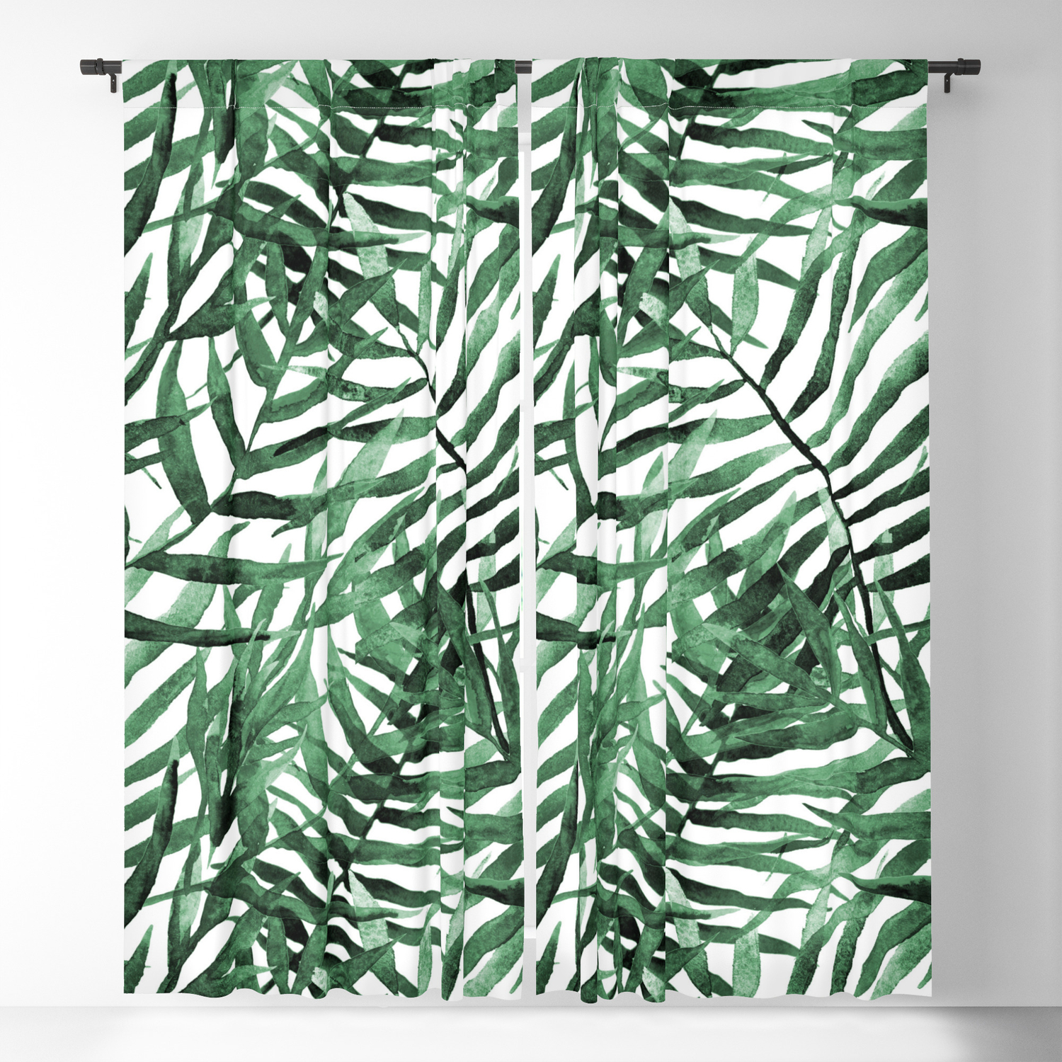 Dark Green Tropical Leaves Blackout Curtain By Amypetersonartstudio Society6 You're free to use this content in any. society6