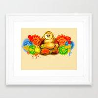 buddah Framed Art Prints featuring Buddah by Adaildo Neto