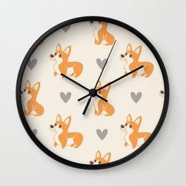 Corgi Pups Wall Clock