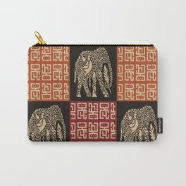 African Tribal Pattern No. 40 Carry-All Pouch