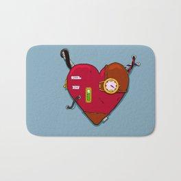 Robot Heart Bath Mat