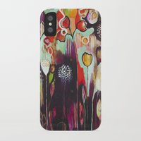 """flora bowley iPhone & iPod Cases featuring """"Release Become"""" Original Painting by Flora Bowley by Flora Bowley"""