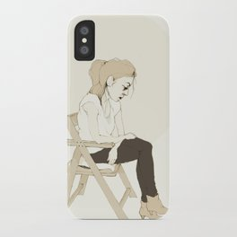girl sitting iPhone Case