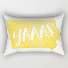 Iowa...YAAAS Rectangular Pillow