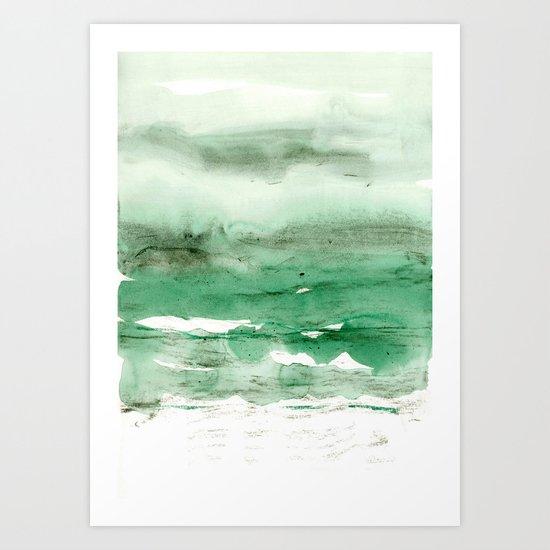 green & grey Art Print