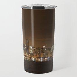 Chicago Skyline at Night Color Photography Travel Mug