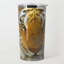 Tiger Face: Up Close and VERY Personal Travel Mug