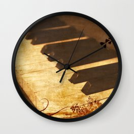 Old piano Wall Clock