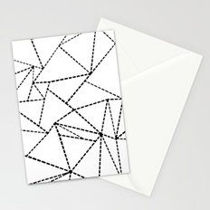Abstract Dotted Lines Black and White Stationery Cards