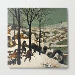 The Hunters in the Snow - Pieter Bruegel the Elder Metal Print