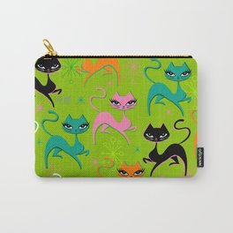 Prancing Kittens on Lime Carry-All Pouch