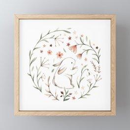 Watercolor Bunny Framed Mini Art Print