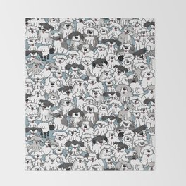 Aqua Dogs Throw Blanket