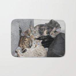 Bengal Cat Kitty Pile  Bath Mat