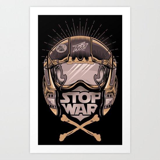 STOP WAR Art Print