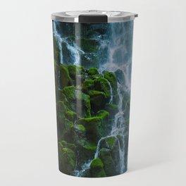 Water columns Travel Mug