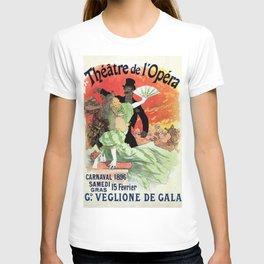 Paris Carnival 1896 Opera Theatre advert, Jules Chéret T-shirt