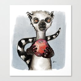 The Game Lemur Canvas Print