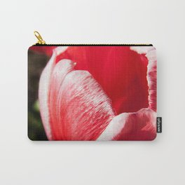 Pink Tulip Closeup Photography Print Carry-All Pouch