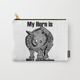 Save the rhino shirt Carry-All Pouch