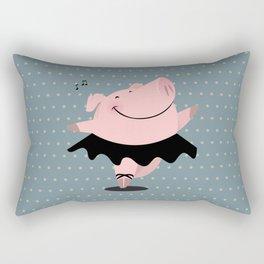 Ballerina pig Rectangular Pillow