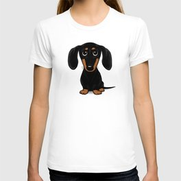 Black and Tan Shorthaired Dachshund T-shirt