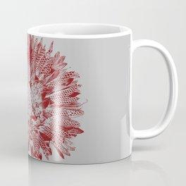 Wild Flower Stamped in Red Coffee Mug