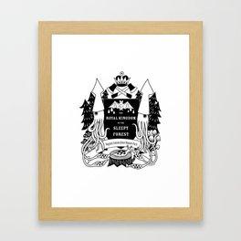 The Royal Kingdom of the Sleepy Forest Framed Art Print