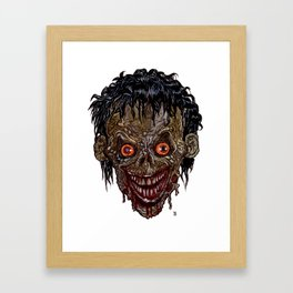 Heads of the Living Dead Zombies: Crazed Zombie Framed Art Print