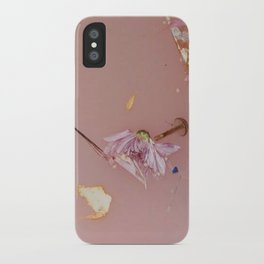 Harry Styles - pink flowers album iPhone Case