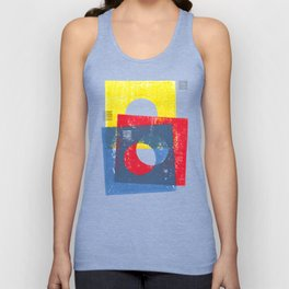 Basic in red, yellow and blue Unisex Tank Top