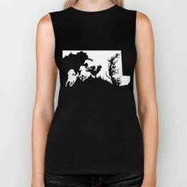 Maryland Thoroughbred Racing Horse Lover White Biker Tank