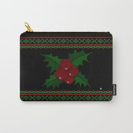 Knitted Mistletoe Carry-All Pouch