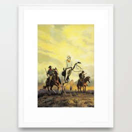 The Unknown Rider in The Warriors Path Framed Art Print